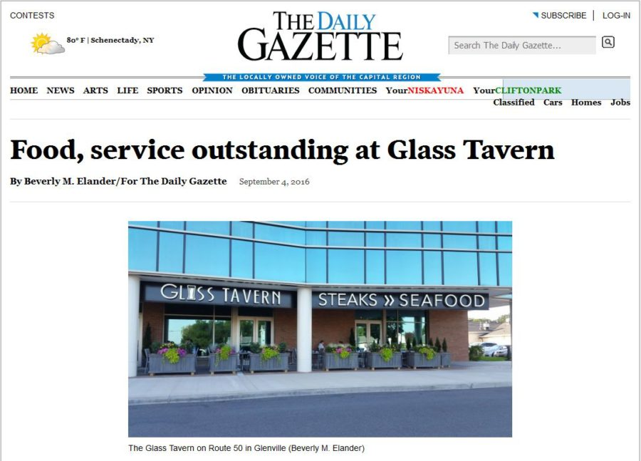 Food, service outstanding at Glass Tavern – Daily Gazette